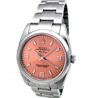 Pre-Owned Rolex Women's Airking Midsize Stainless Steel Watch