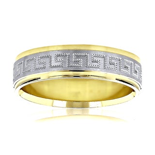 14k Two-tone Gold Men's Exquisitely Designed Wedding Band