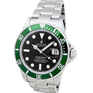 Pre-Owned Rolex Men's Anniversary Green Submariner Watch
