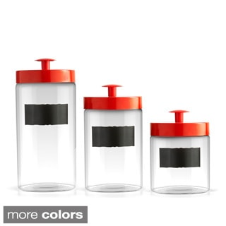 Chalkboard 3-piece Glass Canister Set