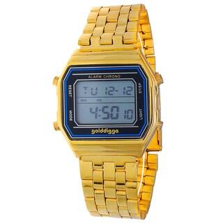 Retro Tween Gold Digital Multifunction LED Alloy Watch