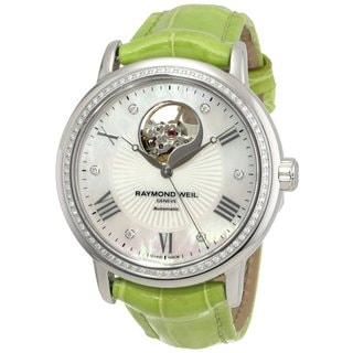 Raymond Weil Women's 'Maestro' Green Automatic Luxury Watch