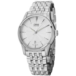 Oris Men's 733 7370 4051 MB 'Artelier' Silver Dial Stainless Steel Automatic Watch