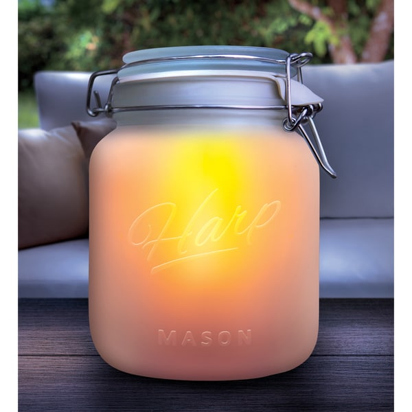 Order Home Collection Solar Powered Glass Mason Jar