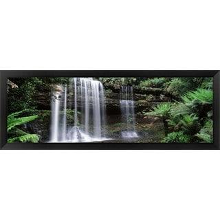'Russell Falls, Mt Field National Park, Tasmania, Australia' Framed Panoramic Photo