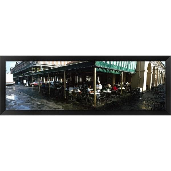 'Cafe Du Monde, New Orleans, Louisiana' Framed Panoramic Photo
