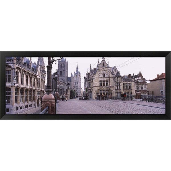 'St. Nicolas Church, Ghent, Belgium' Framed Panoramic Photo