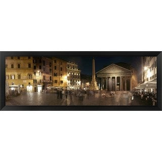 'Pantheon Rome, Rome, Italy' Framed Panoramic Photo