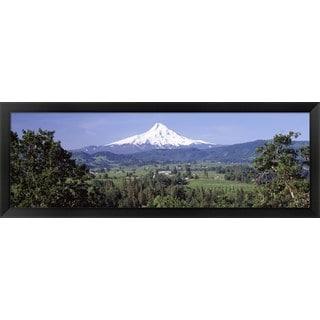 'Mt Hood, Oregon' Framed Panoramic Photo