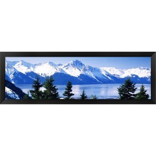 'Turnagain Arm Girdwood AK ' Framed Panoramic Photo