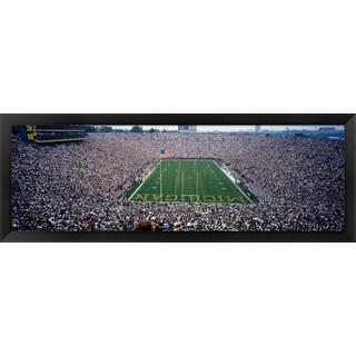 'University Of Michigan Football Game, Ann Arbor, Michigan' Framed Panoramic Photo
