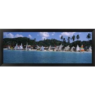 'Grenada Sailing Festival, Grand Anse Beach, Grenada' Framed Panoramic Photo