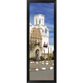 'San Xavier del Bac Tucson AZ' Framed Panoramic Photo