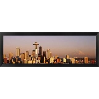 'Seattle, Washington State' Framed Panoramic Photo