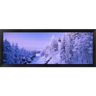 'Imatra State Hotel, Imatra, Finland' Framed Panoramic Photo