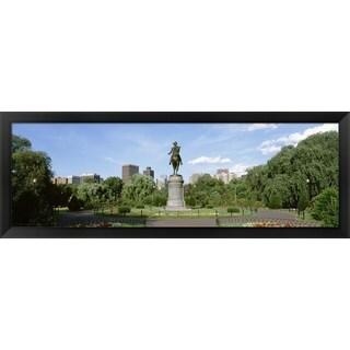 ' Boston Public Gardens, Boston, Massachusetts' Framed Panoramic Photo