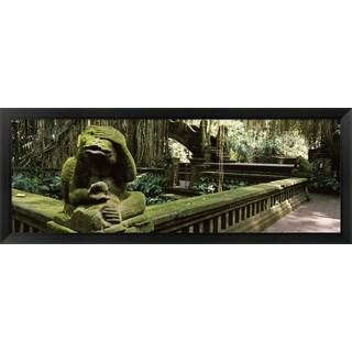 'Bathing Temple, Ubud Monkey Forest, Ubud, Bali, Indonesia' Framed Panoramic Photo