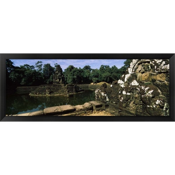 'Neak Pean, Angkor, Cambodia' Framed Panoramic Photo