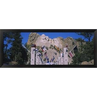 'Mt Rushmore, South Dakota' Framed Panoramic Photo