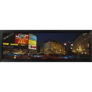 'Piccadilly Circus, London, England' Framed Panoramic Photo