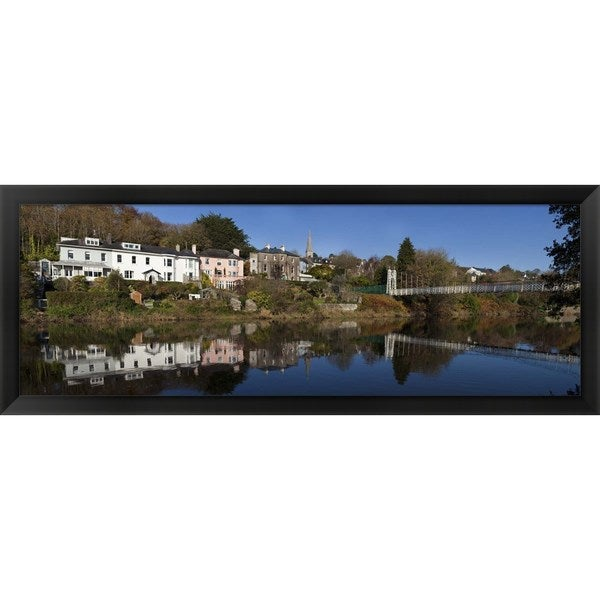 'River Lee at the Mardyke,Cork City, Ireland' Framed Panoramic Photo