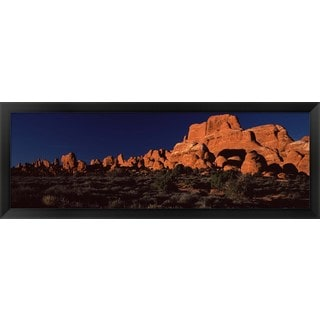 'Arches National Park, Moab, Grand County, Utah' Framed Panoramic Photo