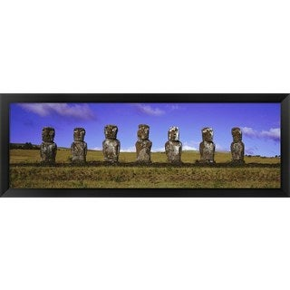 'Moai Easter Island Chile' Framed Panoramic Photo