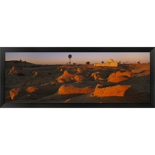 'Mosque on a hill, Douz, Tunisia' Framed Panoramic Photo
