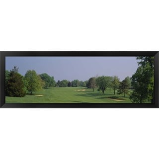 'Golf course, Baltimore Country Club, Maryland' Framed Panoramic Photo