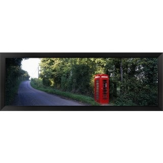 'Phone Booth, Worcestershire, England' Framed Panoramic Photo