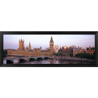 Houses Of Parliament, London, England' Framed Panoramic Photo
