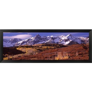 'Mountains, Telluride, Colorado' Framed Panoramic Photo