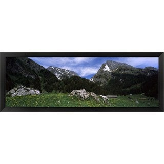 'Mt Santis, St Gallen Canton, Switzerland' Framed Panoramic Photo
