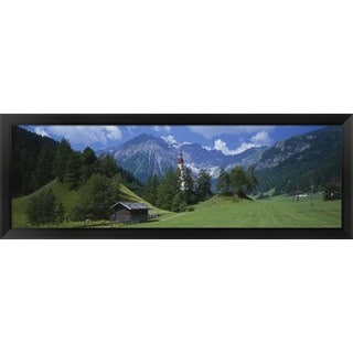 'Oberndorf Tirol Austria' Framed Panoramic Photo