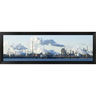 'Oil refinery, Delaware River, New Jersey, ' Framed Panoramic Photo