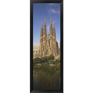 'Cathedral, Barcelona, Spain' Framed Panoramic Photo