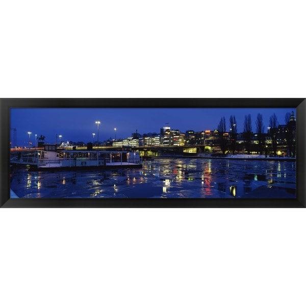 'Stockholm, Sweden' Framed Panoramic Photo