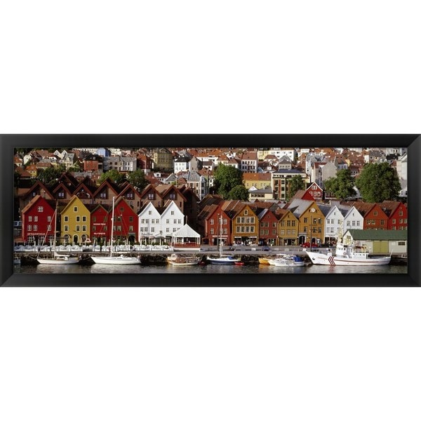 'Bergen Norway' Framed Panoramic Photo