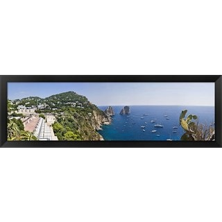 'Capri, Italy' Framed Panoramic Photo