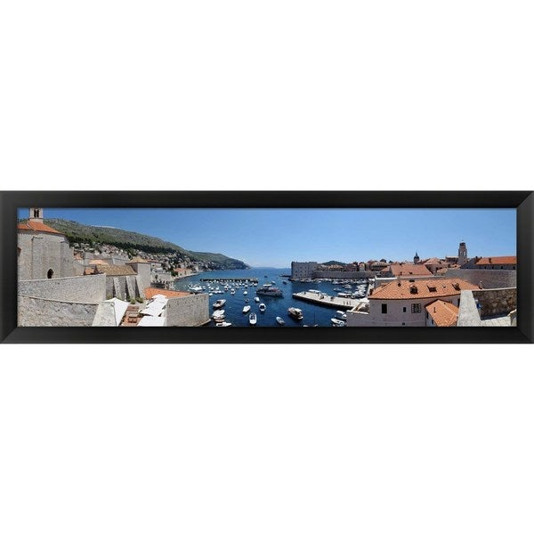 'Dubrovnik, Croatia' Framed Panoramic Photo