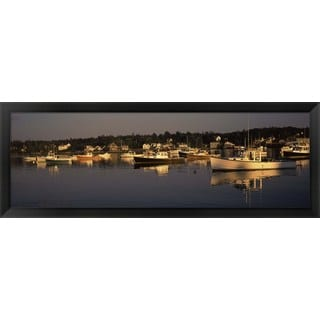 'Bass Harbor, Hancock County, ME' Framed Panoramic Photo
