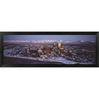 'Anchorage, AK' Framed Panoramic Photo