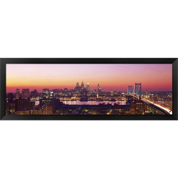 'Philadelphia, PA ' Framed Panoramic Photo
