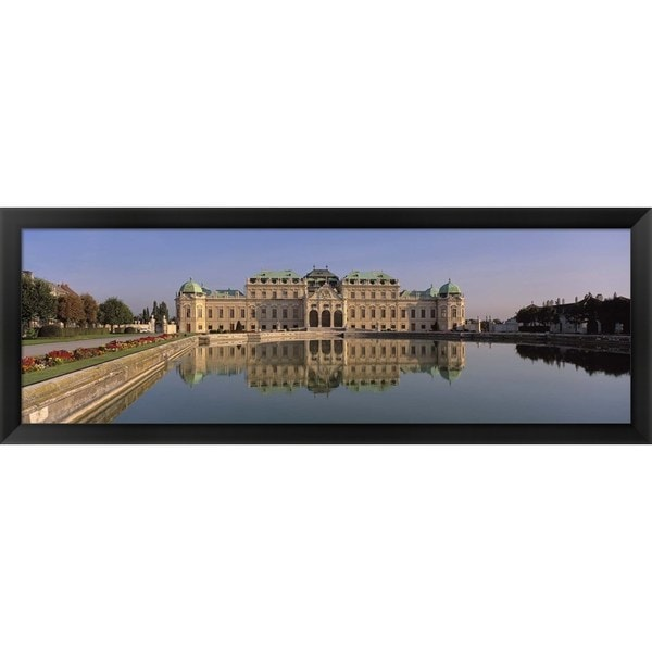 'Belvedere Palace, Vienna, Austria' Framed Panoramic Photo