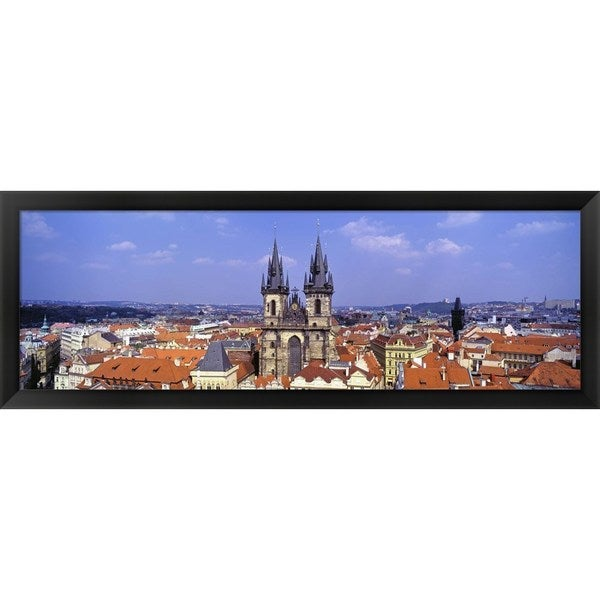 'Tyn Church, Prague, Czech Republic' Framed Panoramic Photo