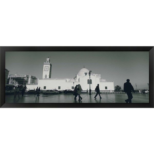 'Jamaa-El-Jedid, Algiers, Algeria' Framed Panoramic Photo