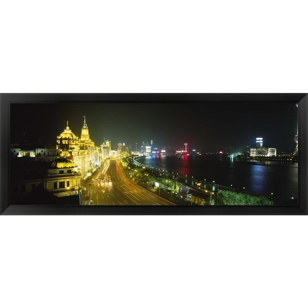 'The Bund, Shanghai, China' Framed Panoramic Photo