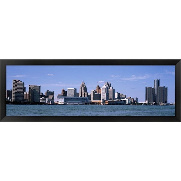'Detroit, Michigan' Framed Panoramic Photo