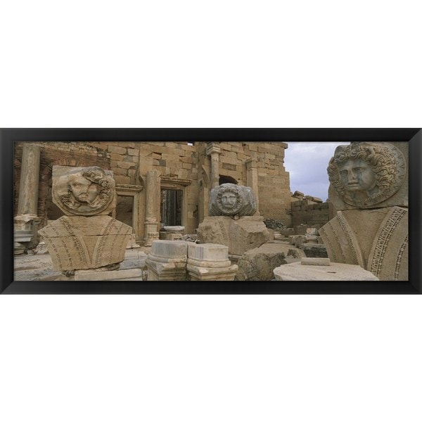 'Leptis Magna, Libya' Framed Panoramic Photo