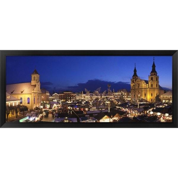 'Christmas market, Ludwigsburg, Germany' Framed Panoramic Photo